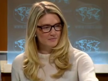 Marie Harf in the Briefing Room.