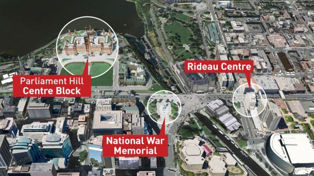 Ottawa Shooting Locations-before they scrubbed the story.