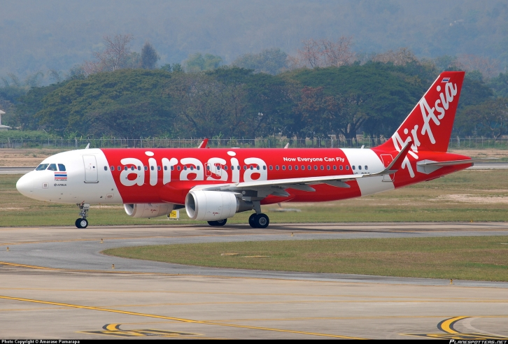 An Air Asia Air Bus 320.