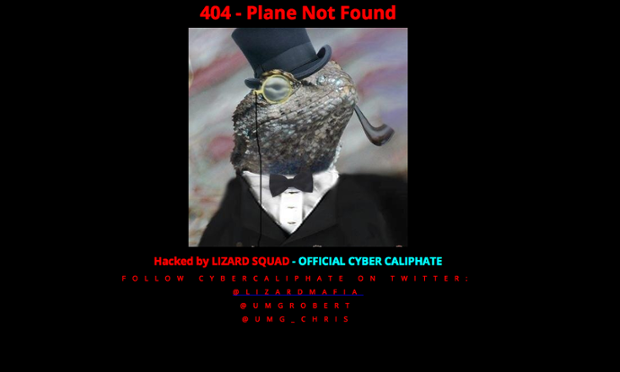 "The Malaysian Airlines Home Page after being hacked by the so-called  ""Cyber Caliphate"" presumably the Herzilya brigade."