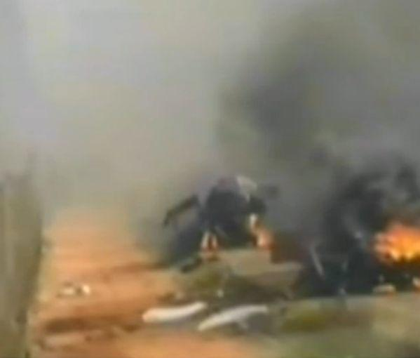Photo posted on Israeli twitter feed claims to show IDF vehicle post Hezbollah attack.