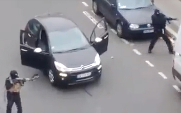 The gunman in Paris. Two men and no getaway driver.