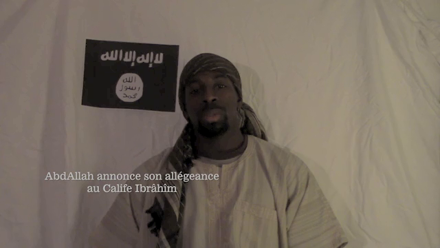 Amedy Coulibaly's final video.Courtesy of o SITE the premier auteurs of fake terrorism for more than a decade.