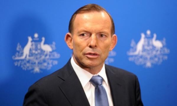 The haunted look of the doomed. Australian Prime Minister Tony Abbott.