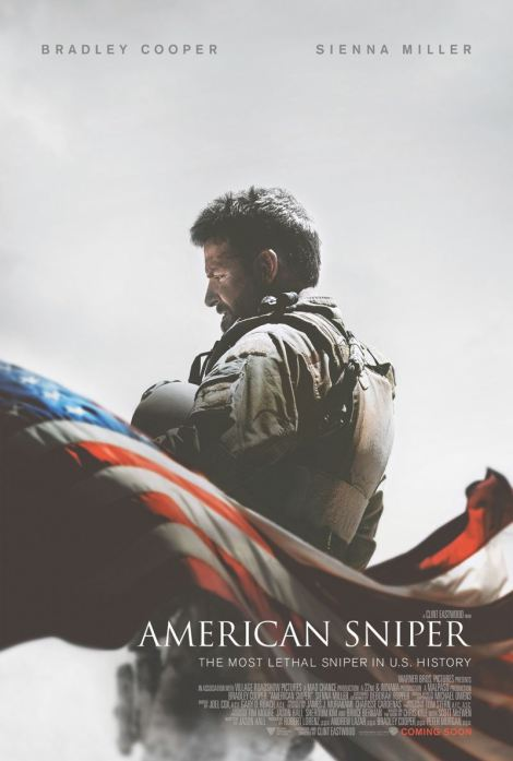 "Slick Hollywood poster for the hit flick ""American Sniper"""