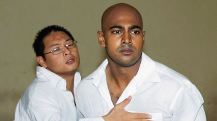 The condemned men Andrew Chan and Myuran Sukumaran at sentencing.