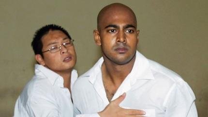The condemned men Andrew Chan and Myuran Sukumaran at sentencing.