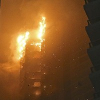911 Towering Inferno Myth Destroyed Again by Dubai Fire.