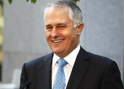 The new Australian Prime Minister Malcolm Turnbull,