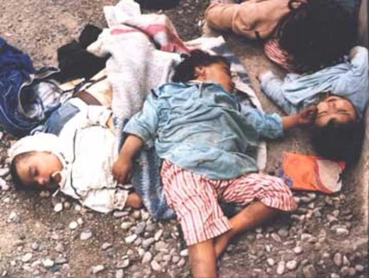 Mass Murder in West Beirut, September 1982. Every victim as innocent as the Nazi's victims.