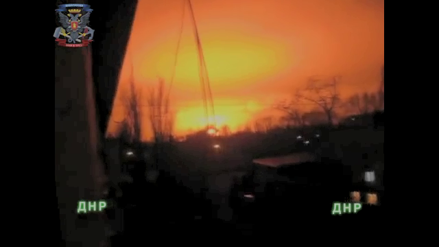 Strange Footage of Donetsk Blast, February 8th, 2015.