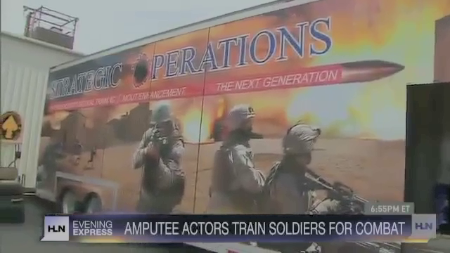 This is one company that runs live action drills for the US military that include amputee crisis actors.