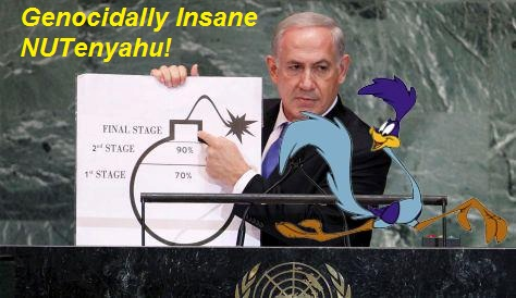 One of Netanyahus many moments of absurdity, the UN 2012.