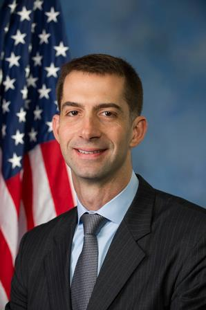 The purported author of the treasonous Senate gate Letter-Tom Cotton. Don't let the US flag fool you.