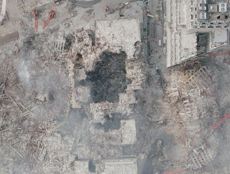 WTC 6 aerial view. It was bombed alonf with the entire WTC complex.