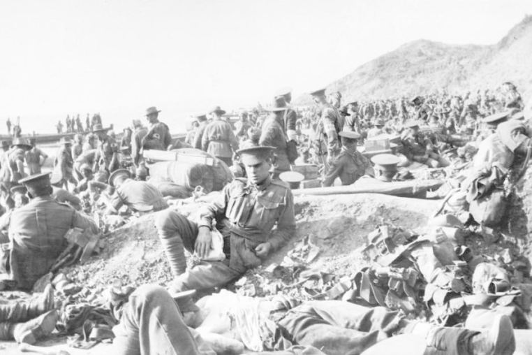 Australian Troops at Gallipoli.
