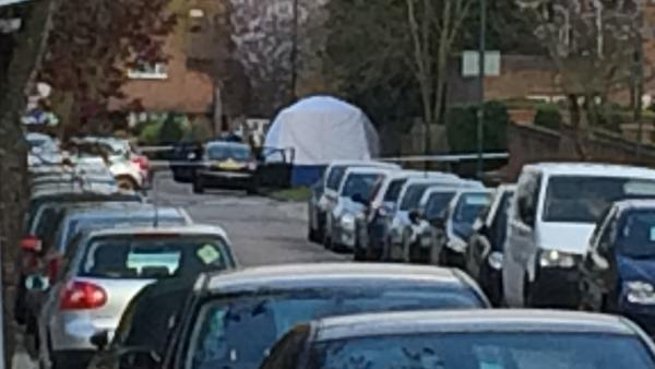 The Wembley crime scene.