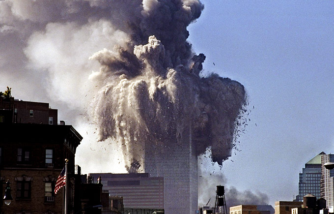 The North Tower Demolition, September 11th, 2001.