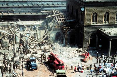 Bologna bombing aftermath.