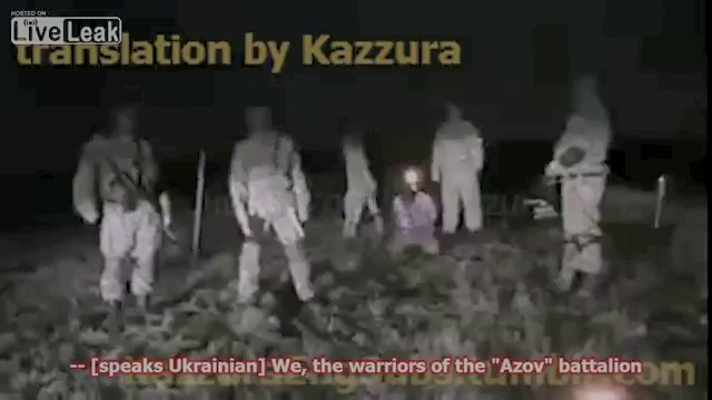 The men who claim to be from the Azov Battalion at the start of the video,