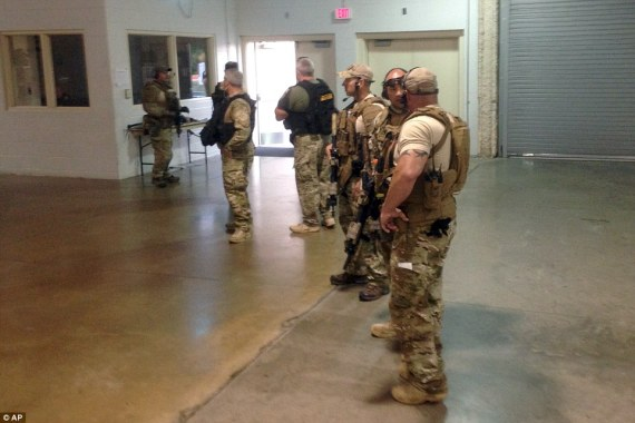 Very Militarised Police of Garland Texas. A group of men in obvious need of a threat.