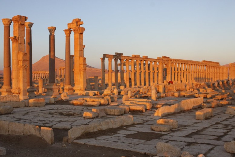 Part of the ancient ruins of Palmyra, Eastern Syria.