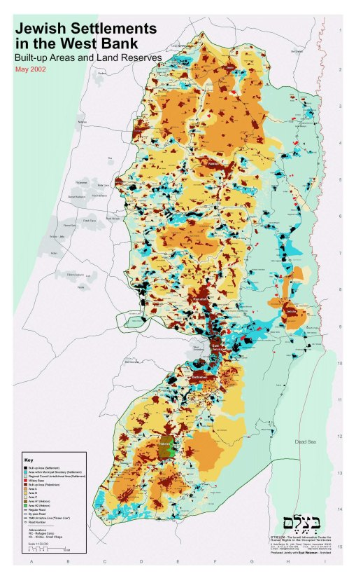 Ecery settlement, marked with a red dot on this map, represents a criminal act.