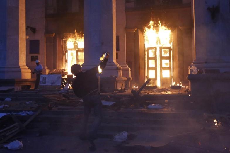 Nightmarish scenes of the new Ukraine, Odessa mat, 2nd, 2014.