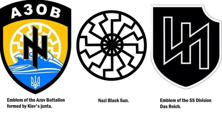 The Azov badge has several Nazi inspired (and dark occultist imspired) elements.