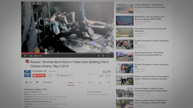 The Maidan propagandists tried to show pride in the massacre! This Youtube still is from the Storm Clouds Gathering video.
