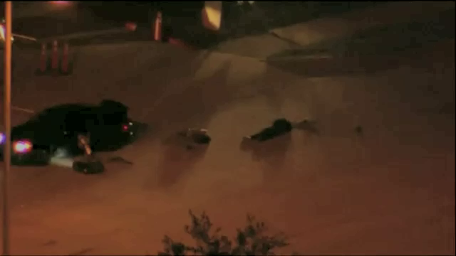 Still from footage of the Garland Texas incident