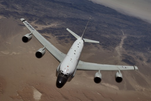 RC-135 Rivet Joint reconnaissance aircraft the USAF converted Boeing 707 that closely resembles the KA 007 Boeing 747