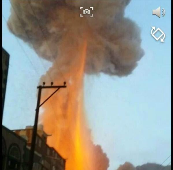One of the many small scale nuclear attacks on Yemen over the padt 18 months.