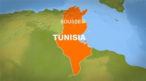Sousse on a map of Tunisia from al Jazeera