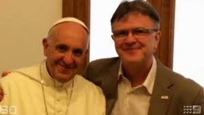 Peter Saunders with Pope Francis.
