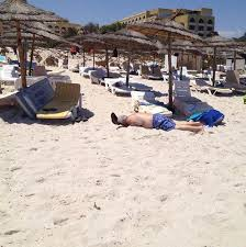 A body on the beach in Sousse following an apparent terror attack that left at least 27 people dead reportedly.
