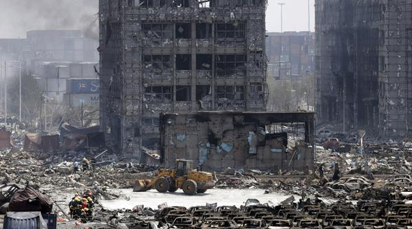The apocalyptic Tianjin aftermath.
