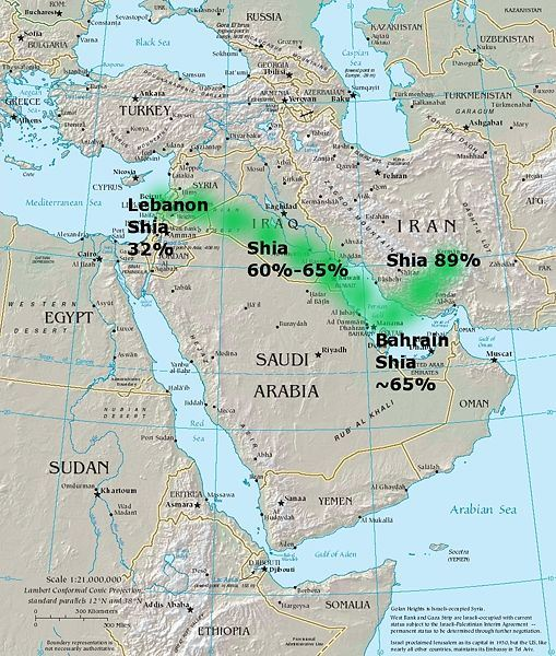 Graphic depicts the Shia land-bridge that had to be broken.