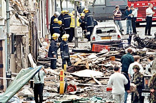 The aftermath in Omagh, the Police Ombudsman found that