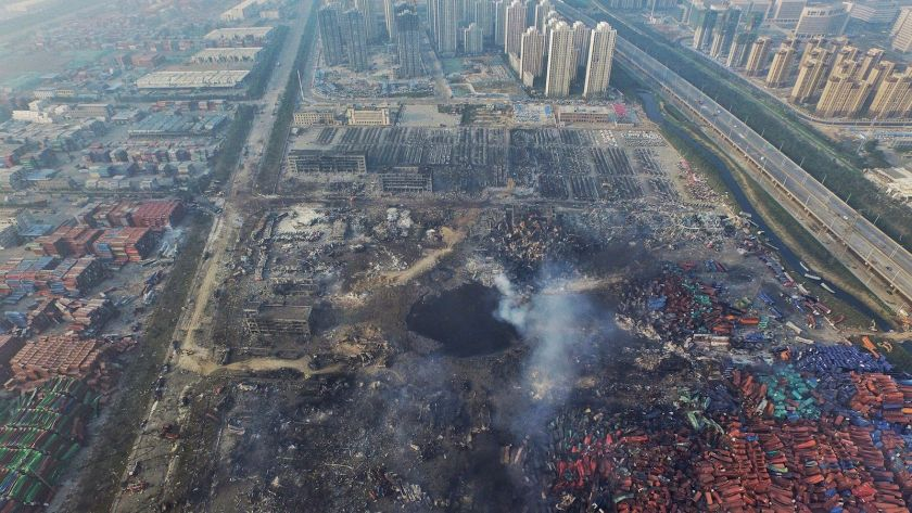 Total devastation and the fires are still burning. Aftermath of Tianjin blasts echoes the aftermath of 911 in Manhattan in many ways.