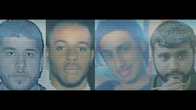 The four accused London perpetrators Hasib Husain , Germaine Lindsay, Shezhad Tanweer and Mohammed Sidique Khan from left to right.