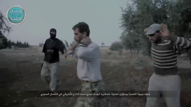 An ignominious ending for the men of Division 30, captured by al Nusra Front militants.