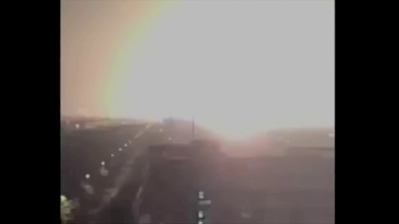Severe light saturation as the Tianjin explosion occurs.