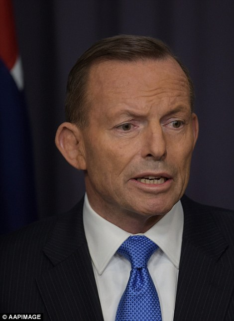 The haunted look of the doomed. Australian Prime Minister Tony Abbott feels the stress this week.
