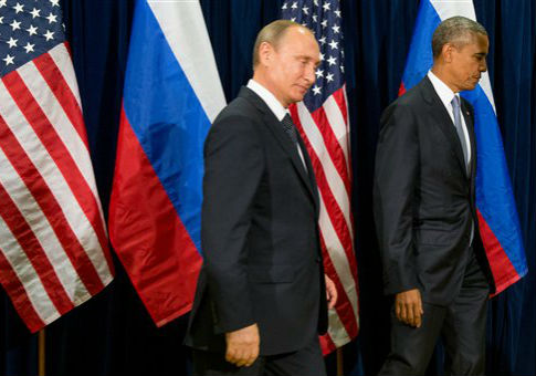 The Presidents of the Russia and the US meet in New York, September 29th, 2015.