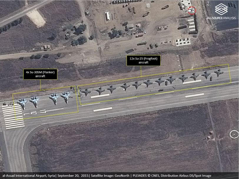Commercial Satellite image of Latakia Air base. (source)