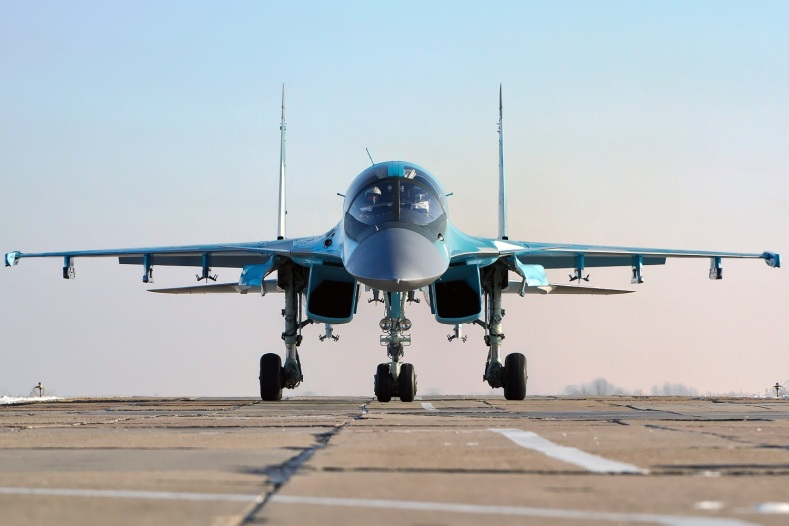 The London Times is reporting that the Russian Federation has sent a small quantity of SU 34 aircraft like this to Syria,