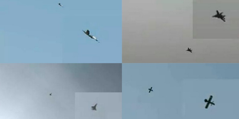These stills of supposed Russian jets over Syria were posted on Twitter by al Nusra front. No videos, no ground references, no evidence the footage was either shot in Syria or that it showed Russian jets..