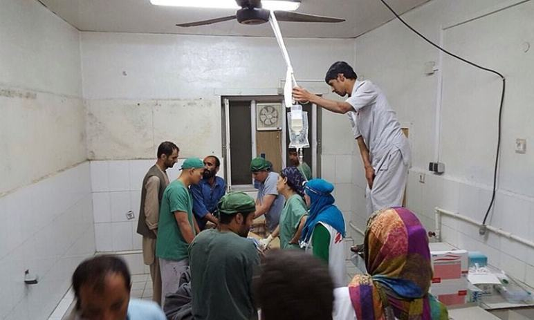 Medics attende the wounded in Kunduz, October 3rd, 2015.