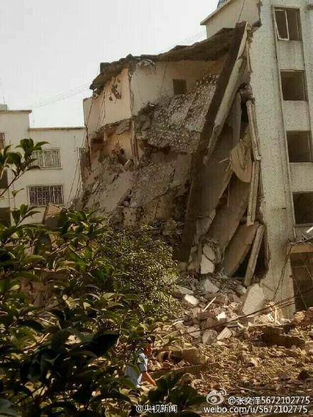Parcel bomb damage in south west China, September 30th, 2015.